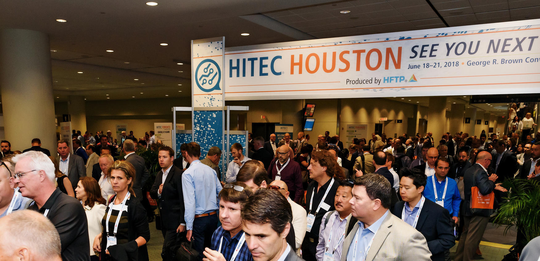 HITEC hospitality event attendees