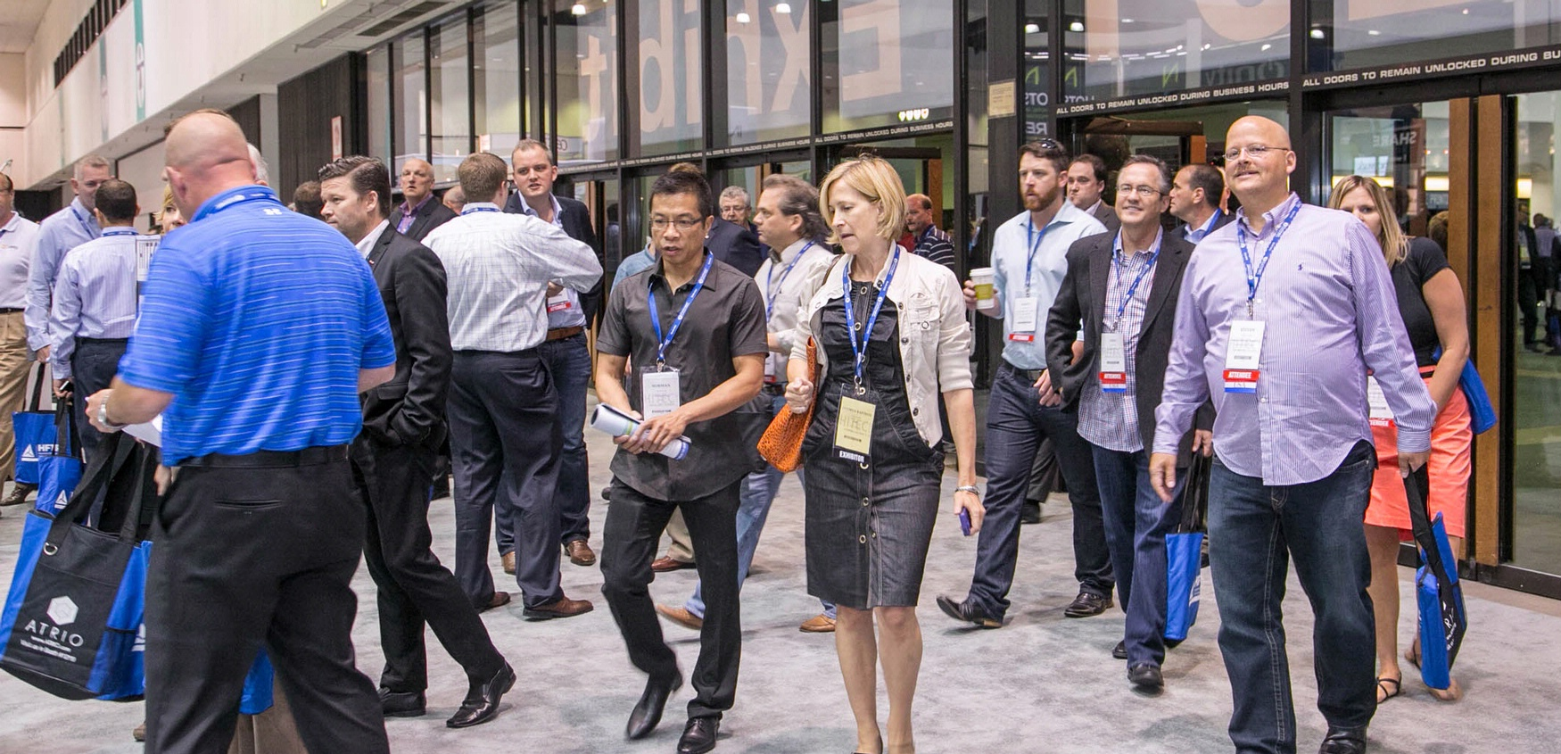 Attendees at HITEC, the world's largest hospitality technology show